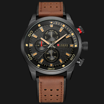 CURREN 2018 New Luxury Fashion Analog Military Sports Watches High Quality Leather Strap Quartz Wristwatch Montre Homme Relojes - discount item  44% OFF Men's Watches