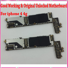 32gb Original Unlocked for iphone 4 Mainboard, 100% Tested for iphone 4 Motherboard with Chips,Free Shipping