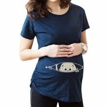 Embarazada ropa симпатичный о-образным беременность вырезом футболки топ беременных длинные уход