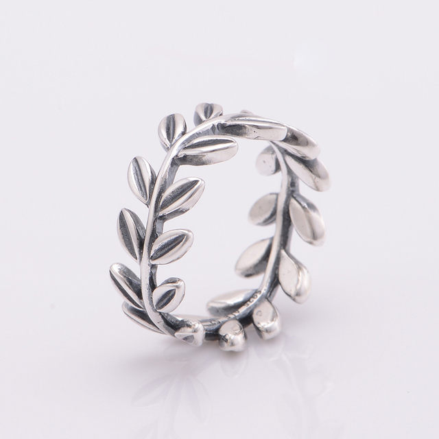 Authentic 925 Sterling Silver Rings Leaves Engagement Wedding Rings For Women Jewelry Free Shipping