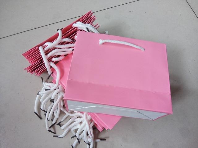 De Papieren Zak : Draagbare gift bag roze horizontale versie van de papieren zak
