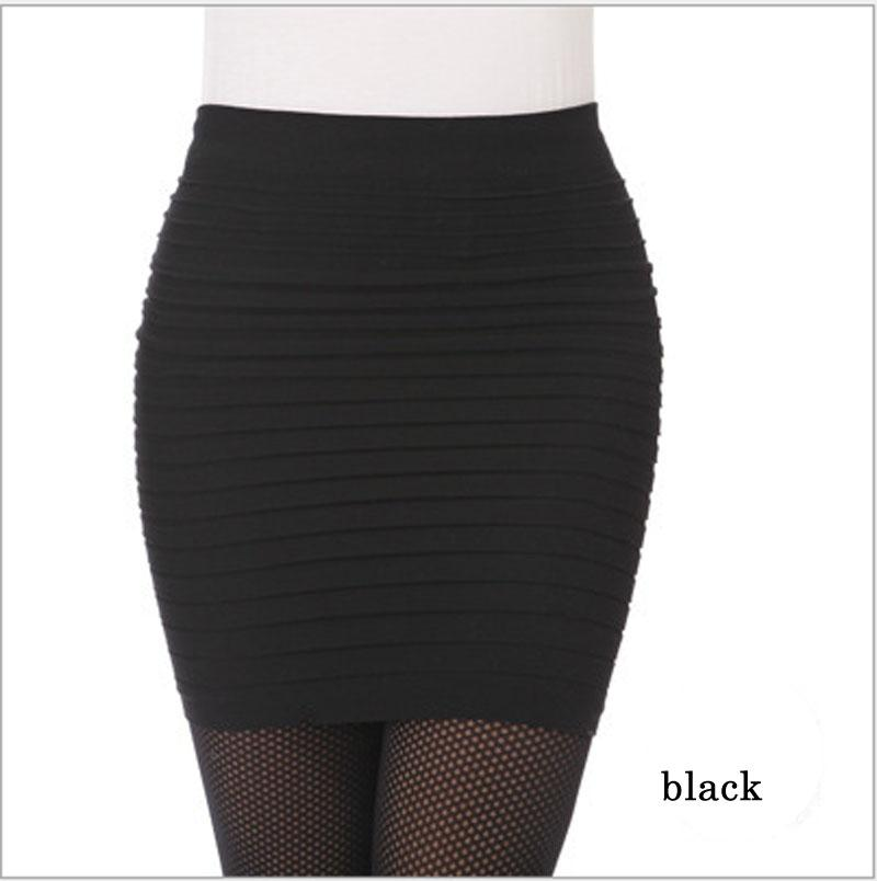 Online 2017 New Women Office Skirt High Waist Pleated Candy Color Elastic Ol Mini Short Skirts Lady Solid Bodycon Aliexpress Mobile
