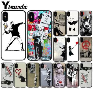 Yinuoda Banksy Albert banksy palestine Black TPU Soft Silicone Phone Cover for iPhone 6S 6plus 7 7plus 8 8Plus X Xs MAX 5 5S XR(China)