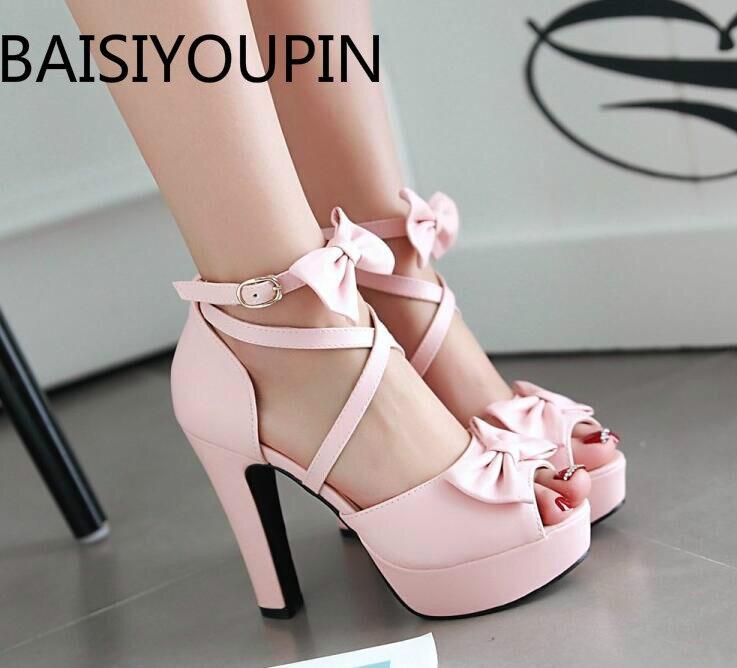 Женская обувь с симпатичной бабочкой обувь на высоком тонком каблуке Женская обувь с ремешком и пряжкой; Женские стильные туфли с широко от...
