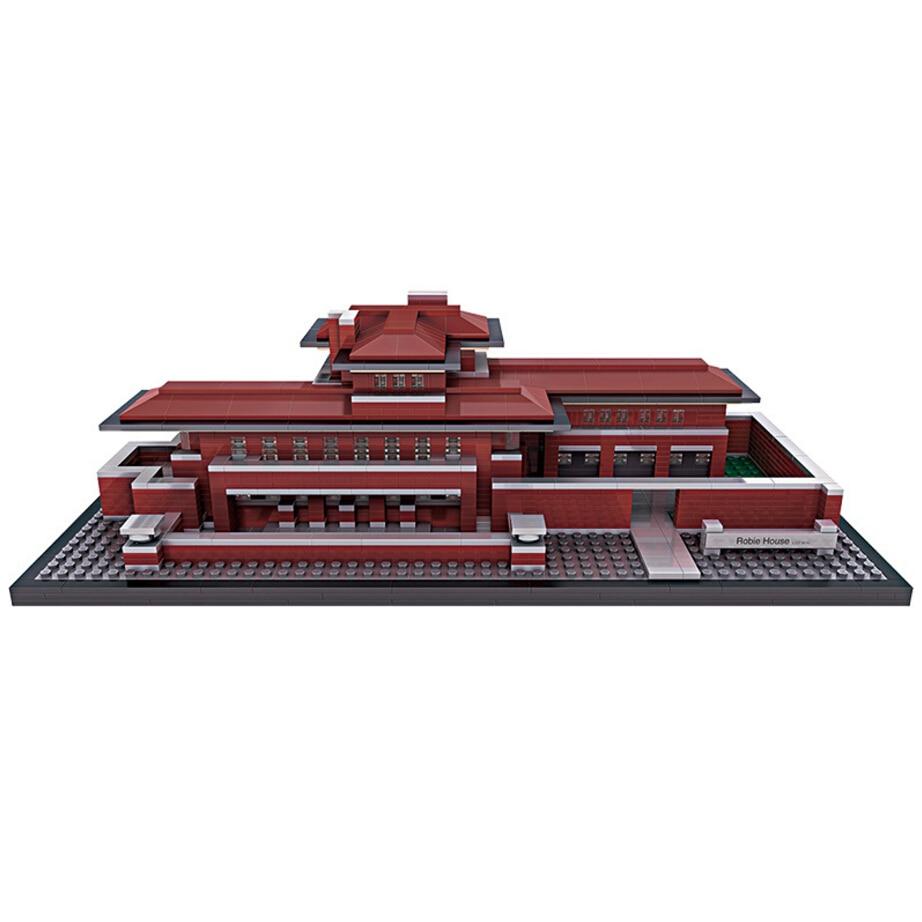 Loz mini diamond building block world famous Architecture robie house nanoblock model bricks educational toys напольная акустика pmc twenty5 24 walnut page 7