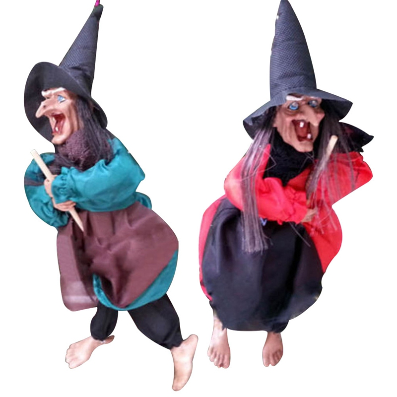 1Pc Halloween Witch Hanging Haunted House Terror Scary