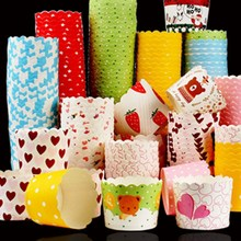 50/20p lot Mix color  Paper Cupcake Cups Muffin Party wedding,birthday Decoration Disposable Tools