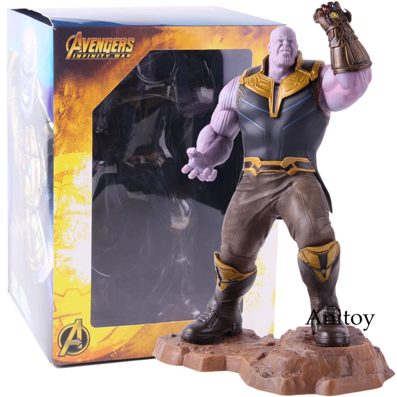 Marvel Avengers Infinity War Thanos Artfx+ Statue 1/10 Scale Pre-pained Thanos Avengers Endgame Figure Collectible Model Toy