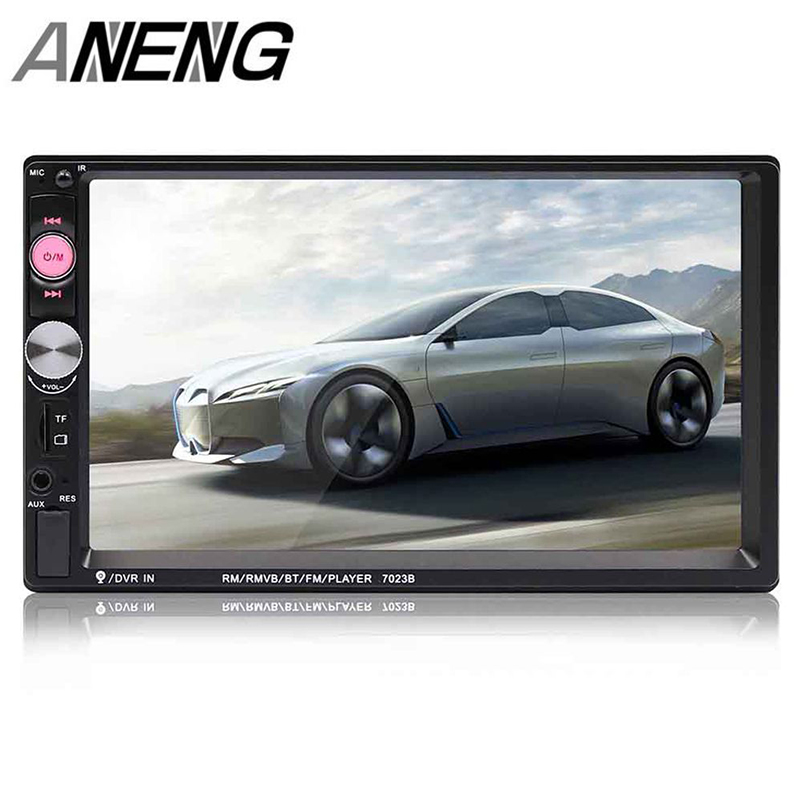 """7/"""" 2 Din Bluetooth In-dash Car Stereo AUX MP5 Audio Radio FM Player with Camera"""