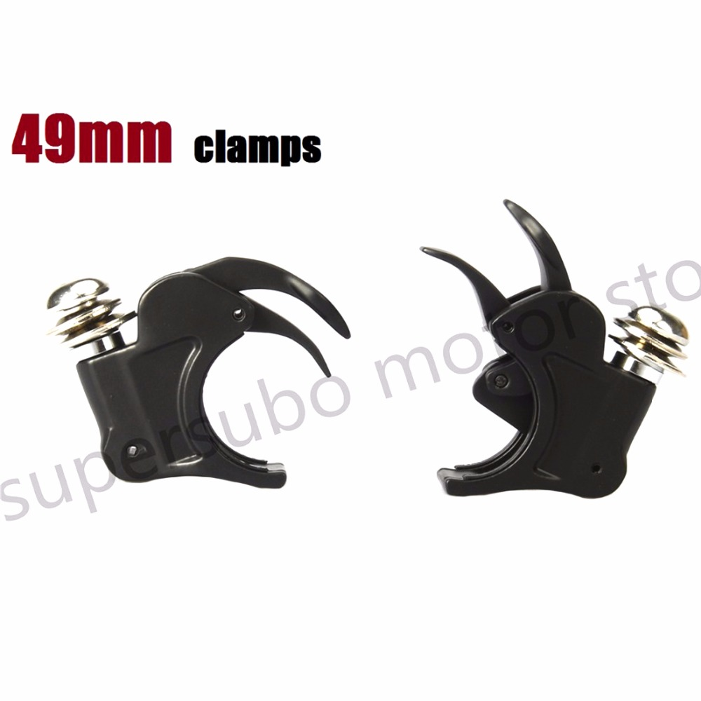 Motorcycle 49mm Detachable Windshield 49mm Clamps For Harley Dyna V rod Fat Bob Wide Glide 06-16 black 49mm protector dust guard motorcycle front rubber fork dirt cover gaiter gator boot cap shock for harley dyna fat bob 2008 2016