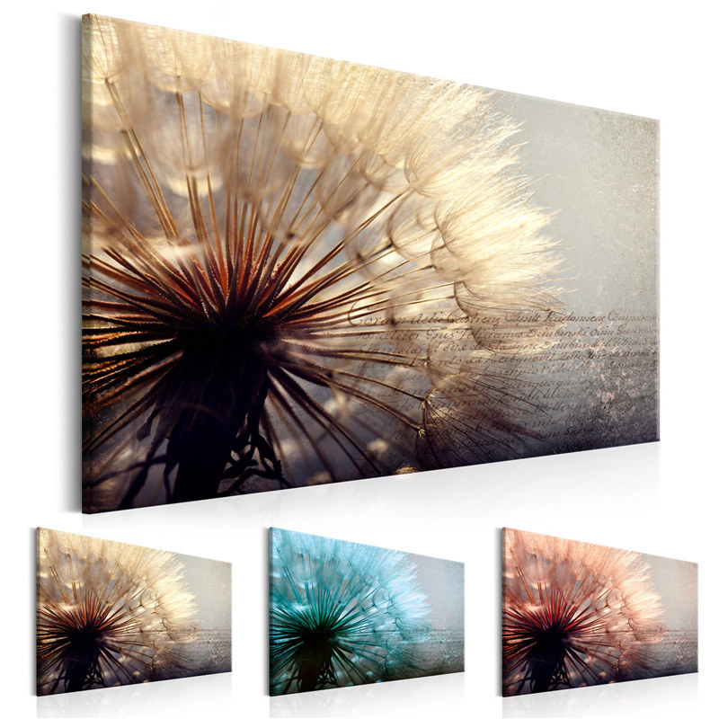 Colorful Dandelion Canvas Art Poster Print Wall Picture Living Room Home Decor