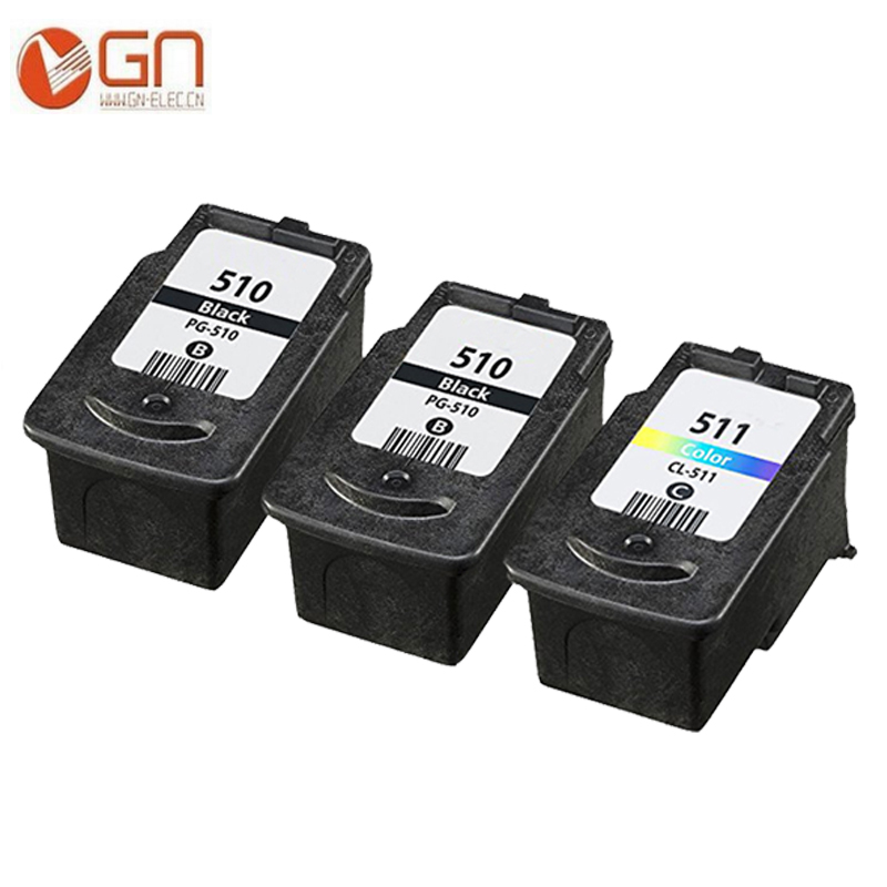 GN 3PK <font><b>Ink</b></font> <font><b>Cartridge</b></font> for <font><b>Canon</b></font> PG510 510XL CL511 CL 511 Large Capacity for Pixma MP240 MP250 <font><b>MP260</b></font> MP270 MP280 printer image