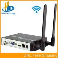 Беспроводной H.264 HDMI VGA CVBS декодер HD видео аудио IP потокового декодер WiFi HTTP RTSP RTMP UDP HLS к HDMI VGA CVBS приемник