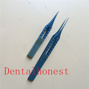 2pcs Titanium Straight Toothed Forcep ophthalmic eye surgical instrument