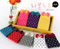 10pairs/lot colorful women's Casual Fashion Cotton soft socks with butterfly tie