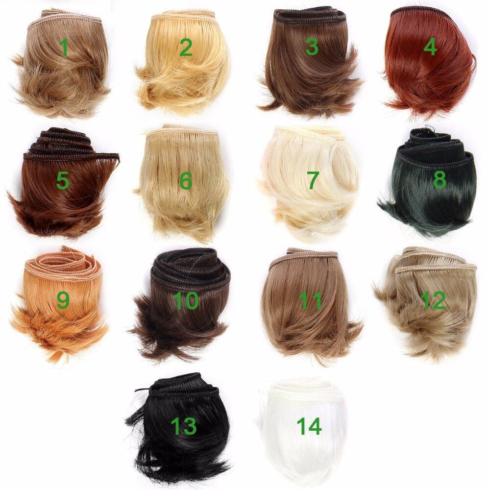 Doll Accessories Hair Natural Colors Short Hair Dolls 5CM BJD Wig Hair DIY