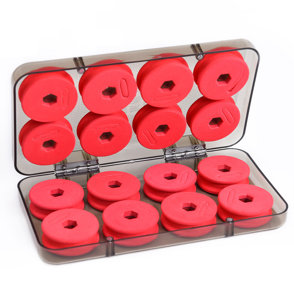 16Pcs/Set Foam Winding Board Fishing Winding Board Fishing Line Shaft Portable Bobbin Spools Fishing Box Tackle Boxes