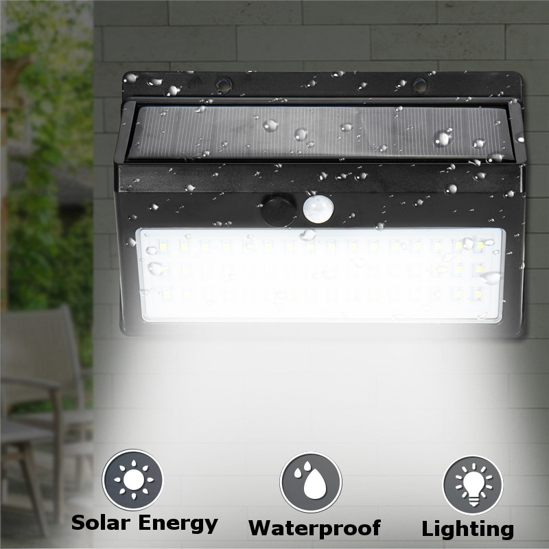 Mising 48 LED Solar Power Light Motion Sensor Outdoor Security Lamp Waterproof Street Wall Light For Outdoor Garden