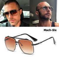 JackJad 2018 nouvelle mode Mach deux demi cadre en métal Style Aviation lunettes De soleil Vintage hommes marque Design lunettes De soleil Oculos De Sol