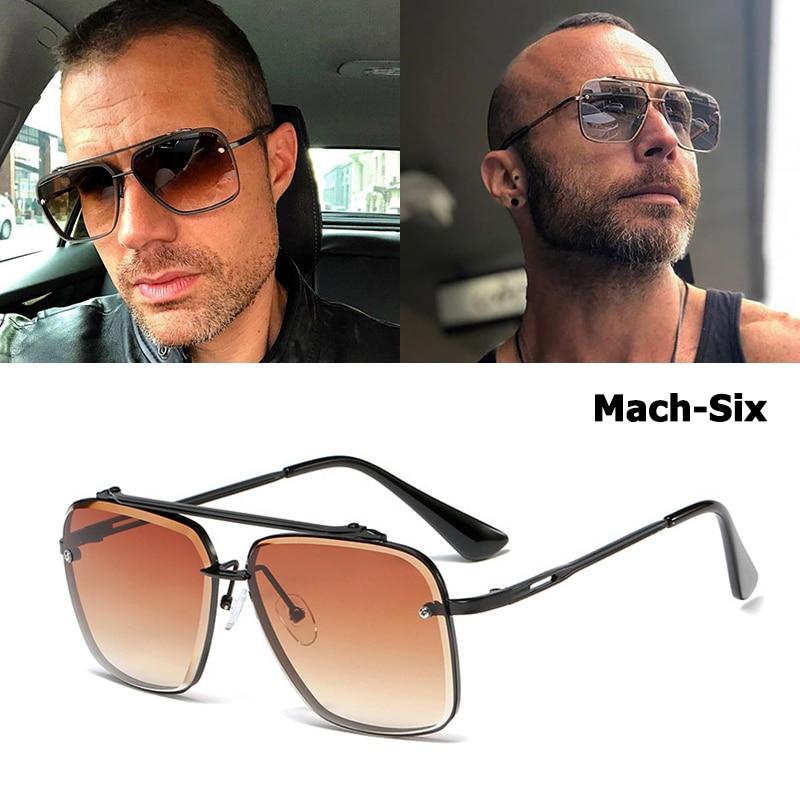 Mach Dois Meio Armação de Metal Aviação JackJad 2018 Nova Moda Estilo Homens de Design Da Marca Óculos De Sol Do Vintage Óculos de Sol Oculos de sol