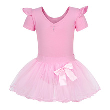 AmzBarley Toddler girls Ballet dress shortSleeve Cotton Lace Dance clothes Ballerina Costumes Leotard Girl Gymnastics Dancewear