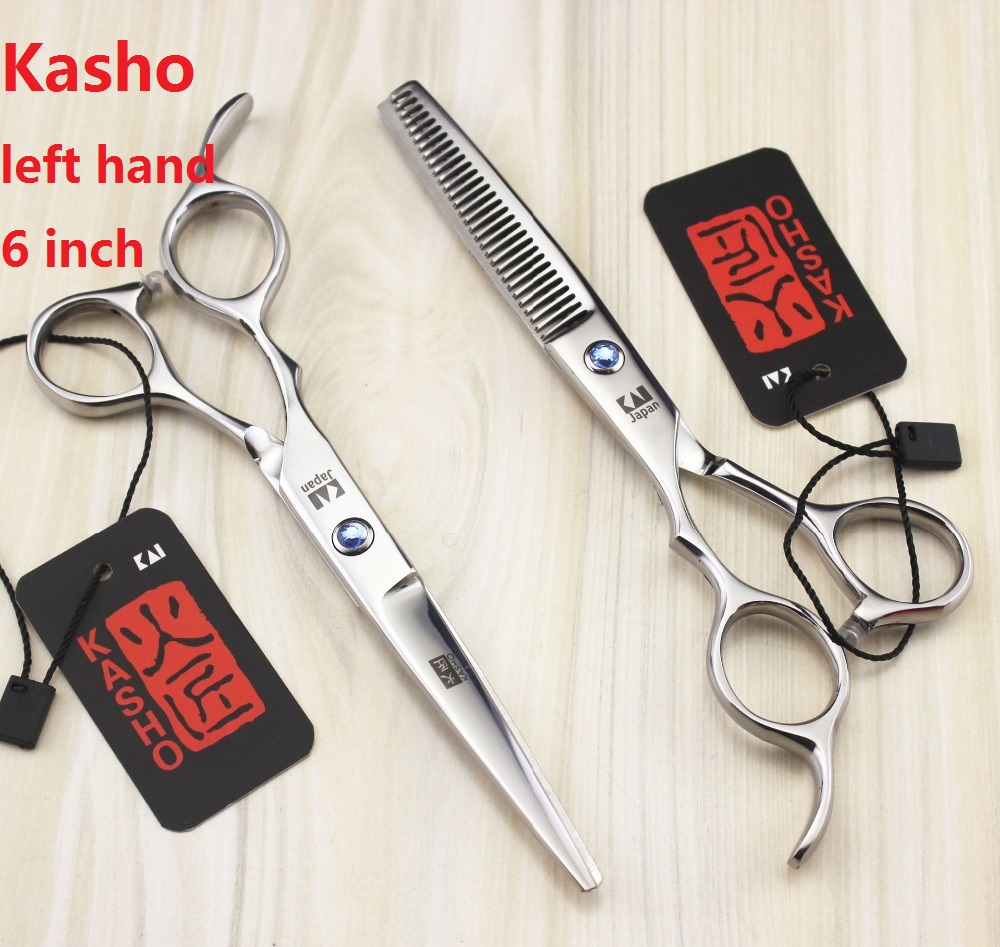 Kasho Zurdo מקצועי משמאל Handed מספריים שיער - טיפוח השיער וסטיילינג