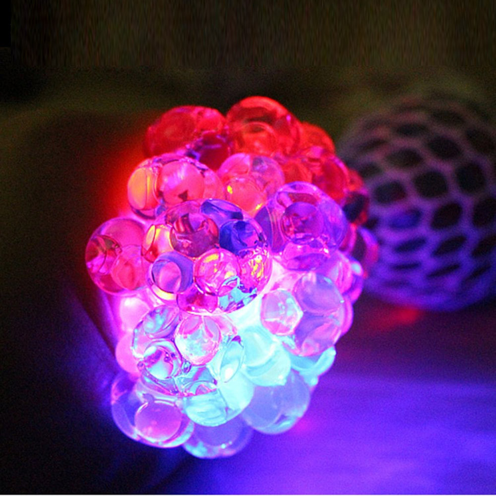 Anti Stress LED Glowing Squeeze Grape