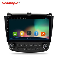 1 Din 10.1'' Android 8.1 Car GPS Navigation DVD Multimedia Player For Honda Accord 7 2003 2007 FM Rds Radio Wifi OBD DAB+ Stereo