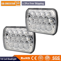 2x 5D Lens 45w Led Projector Kneworth 4X4 12V Light Car Headlights Tractor Daymaker Offroad H
