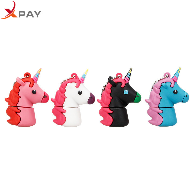 Image 5 - XPAY Usb Flash Drive 2.0 32GB Usb Stick 64GB 128GB Pen Drive Waterproof Cartoon Pendrive 4G 8G 16GB cute Unicorn free shipping-in USB Flash Drives from Computer & Office