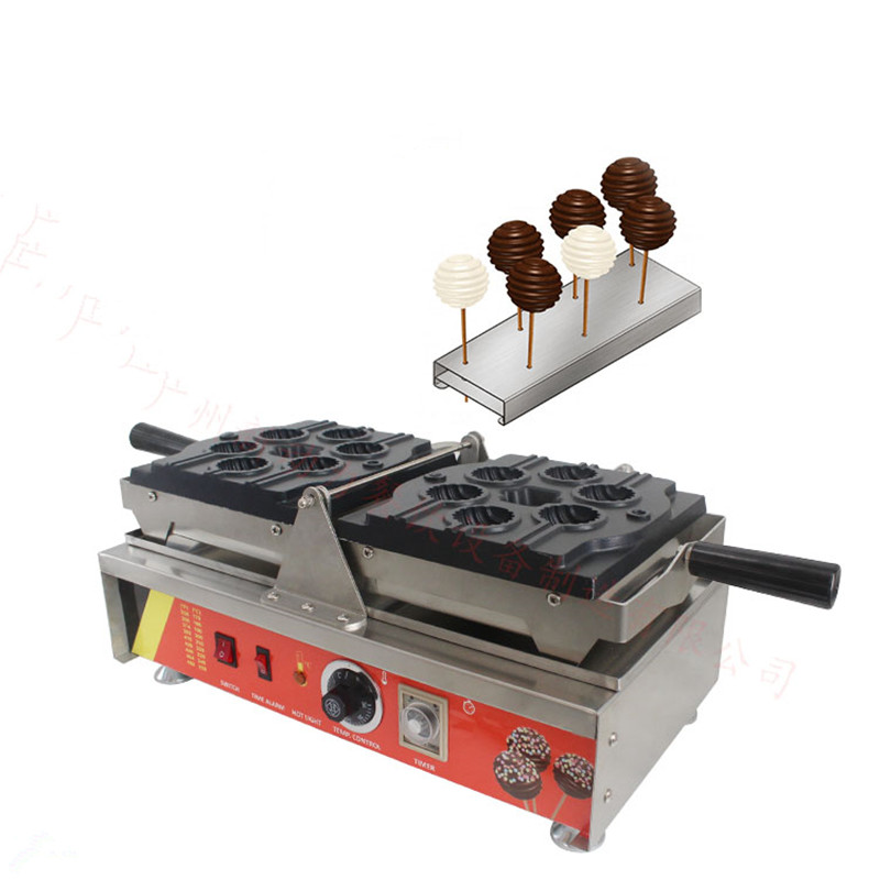 220V/110V Non-stick German Style Commercial Electric Lollipop Cake Waffles Machine Pop Muffin Waffle Maker Pancake Machine 110v 220v commercial 5pcs electric waffle maker machine 21 5cm square dutch non stick waffle stick muffin maker machine