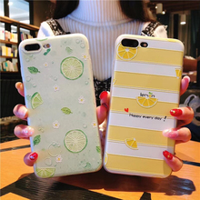 Fruit Pattern Case For iPhone 5 5S SE 6 6s Case Soft Silicone lemon Protect Soft Full Cover For iPhone 7 8 Plus X Phone Cases pj00822a e protective lemon drink style silicone back case for iphone 5 5s multi colored
