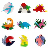 SexeMara 10Piece Wholesale Acrylic Dinosaur Brooch For Woman Men Animal Pterosaur Stegosaurus Dinosaurs Brooches Badegs Jewelry