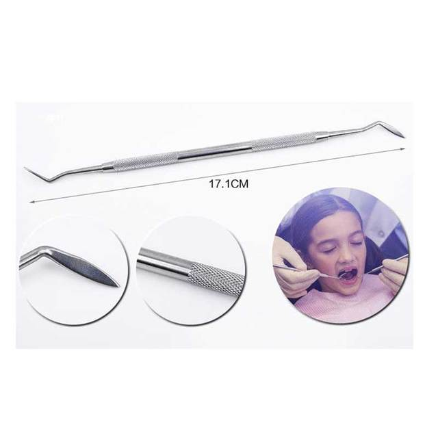 5pcs-6pcs/Set Blue Transparent Case Dental Tool Sets Mirror Stainless Steel Clean Mouth Probe Tooth Care Kit Instrument Tweezer 3
