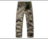 ESDY Gear Winter Shark Skin Soft Shell Tactical Military Camouflage Pants Men Windproof Waterproof Warm Camo Army Fleece Pants