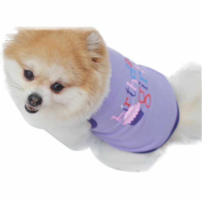 2019 אופנה קיץ חיות מחמד כלבלב כלב חתול חמוד בגדי ילד ילדה יום הולדת אפוד T חולצה Camisas Para Perros