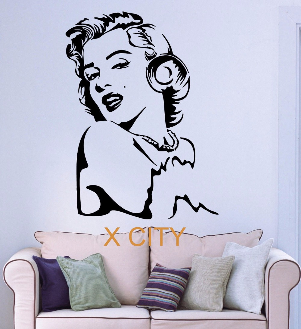Marilyn Monroe Famous POP Star WALL ART STICKER VINYL TRANSFER DECAL WINDOW  DOOR HOME ROOM STENCIL MURAL DECOR
