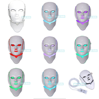 Anti aging led mask 7 color Skin Colored Face LED Facial Mask For Sale