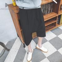 ZEESHANT Neue Herrenbekleidung Casual Hose Lose Hip-Hop Unten Schritt Harem Japanischen Hosen Tanzen Männlichen Breiten Bein Kreuz Hosen XXXXXL