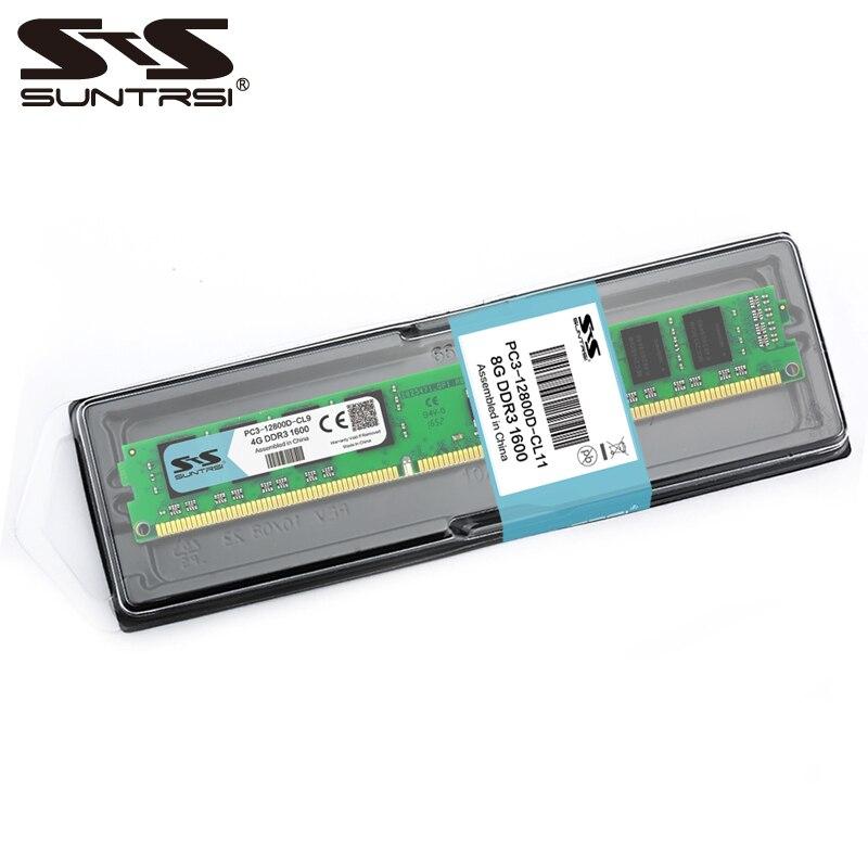 Suntrsi DDR3 8 gb Bureau Mémoire Ram 1600 mhz 1333 mhz Scellé Mémoire DDR 1.5 v 240pin 100% Nouveau