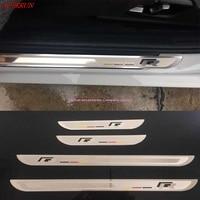 Door Stainless Sill Scuff Plate Guard Trim R Line Trims For VW Volkswagen Passat B7 B8