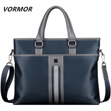 VORMOR 2019 New Brand Men Handbag Fashion Zipper Business Male Shoulder Bag 14 Inches Briefcases Bags