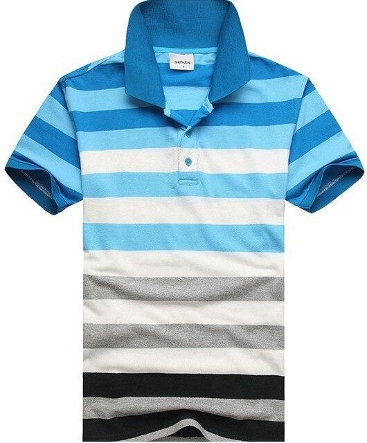 Короткие Polo Shirt 2017 Новое Лето Мужчины Бампер Полосатый Polo Рубашки Мужчин Хлопка С Коротким Рукавом Polo Homme Прилив Свободные Случайные