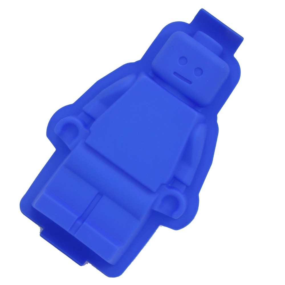 100% Foodgrade Fondant Silicone Lego Mold Super Big Robot Cake Mould - Kök, matsal och bar