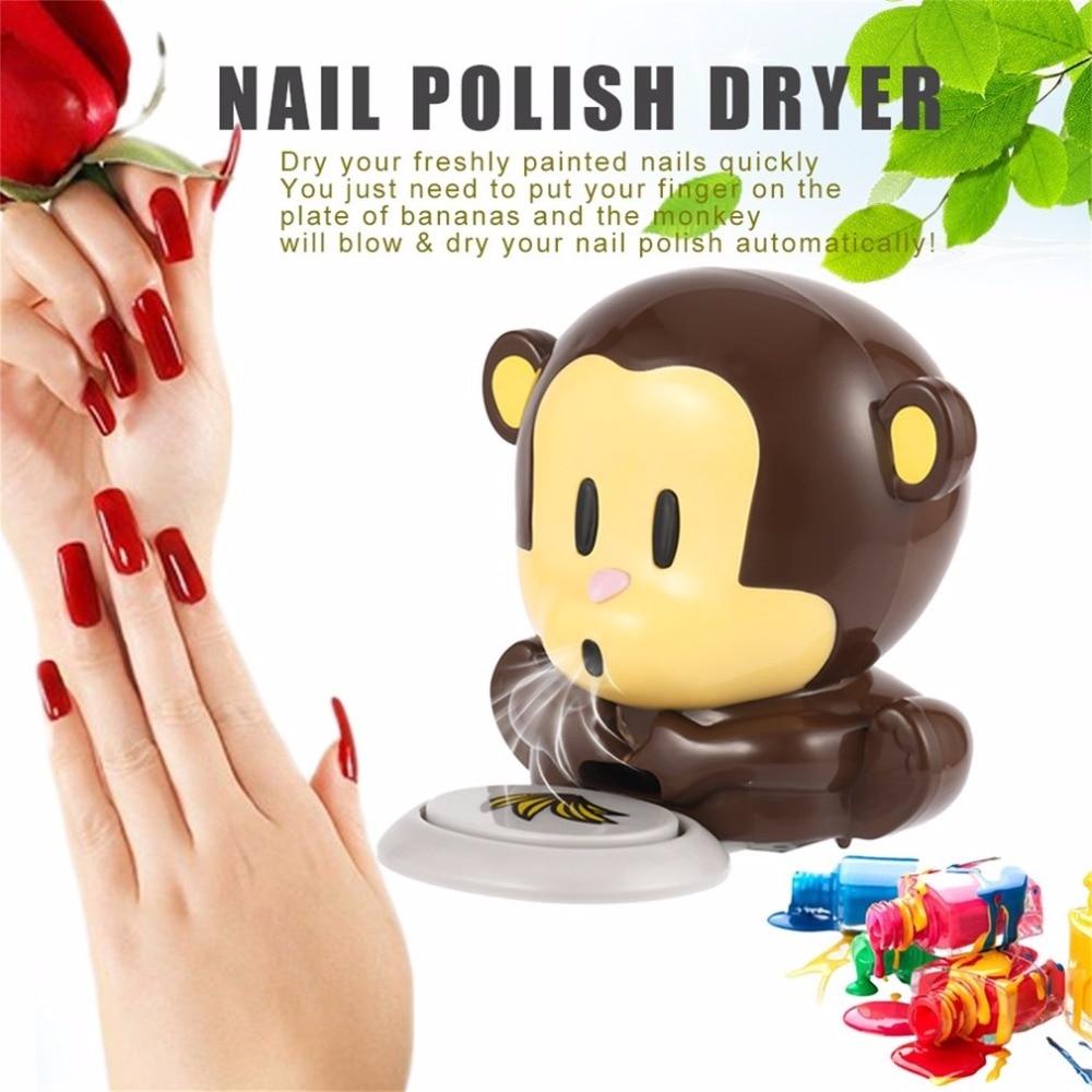 Lovely Small Finger Nail Dryer Mini Monkey Blowing Nail Polish ...