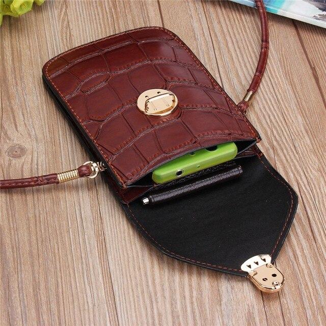 Osmond Silver Mobile Phone Mini Bags Small Clutches Shoulder Bag Crocodile Leather Women Handbag Black Clutch Purse Handbag Flap 4