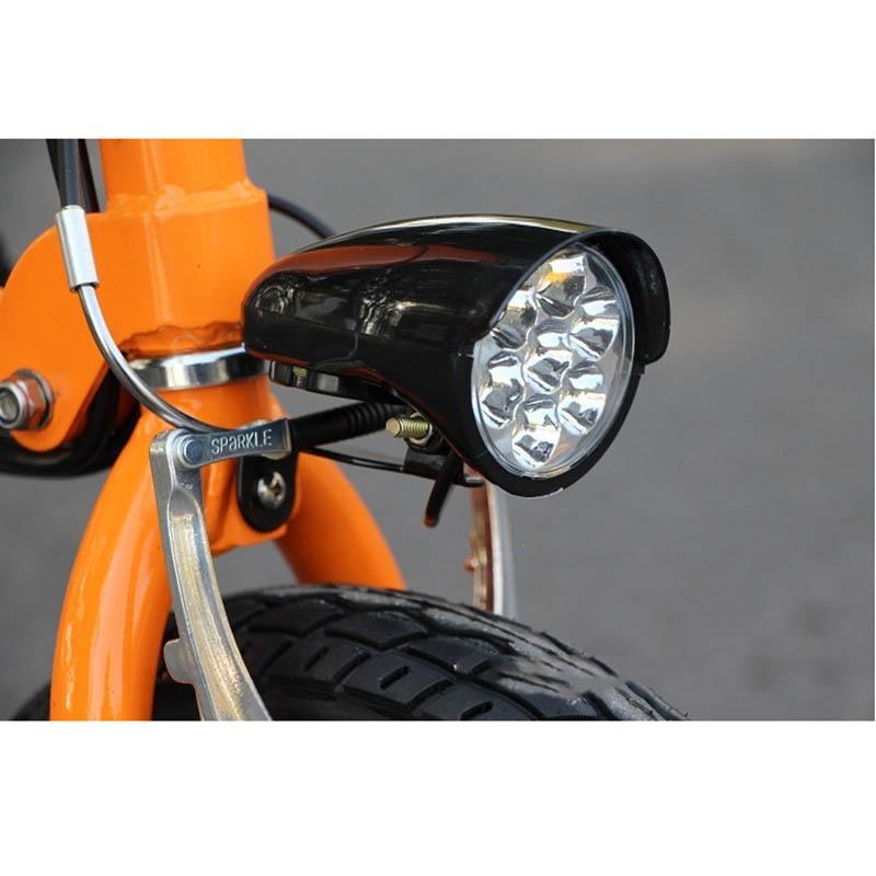 Ebike Bike 7 LED Light 36V 48V Bike Horn Waterproof Flashlight With Horn For Electric Bike Scooter 18W Headlight Front Light