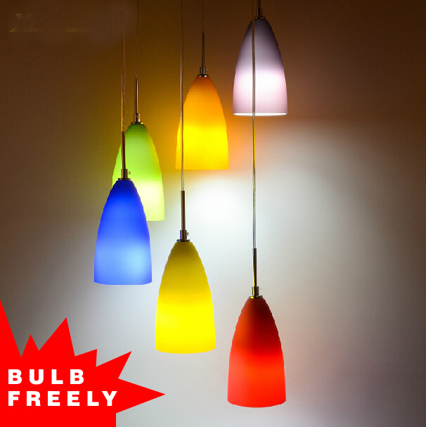 Bulb Free 3 Heads 6 Colored Pendant Light Art Deco Rainbow Glass Light In Pendant  Lights From Lights U0026 Lighting On Aliexpress.com | Alibaba Group