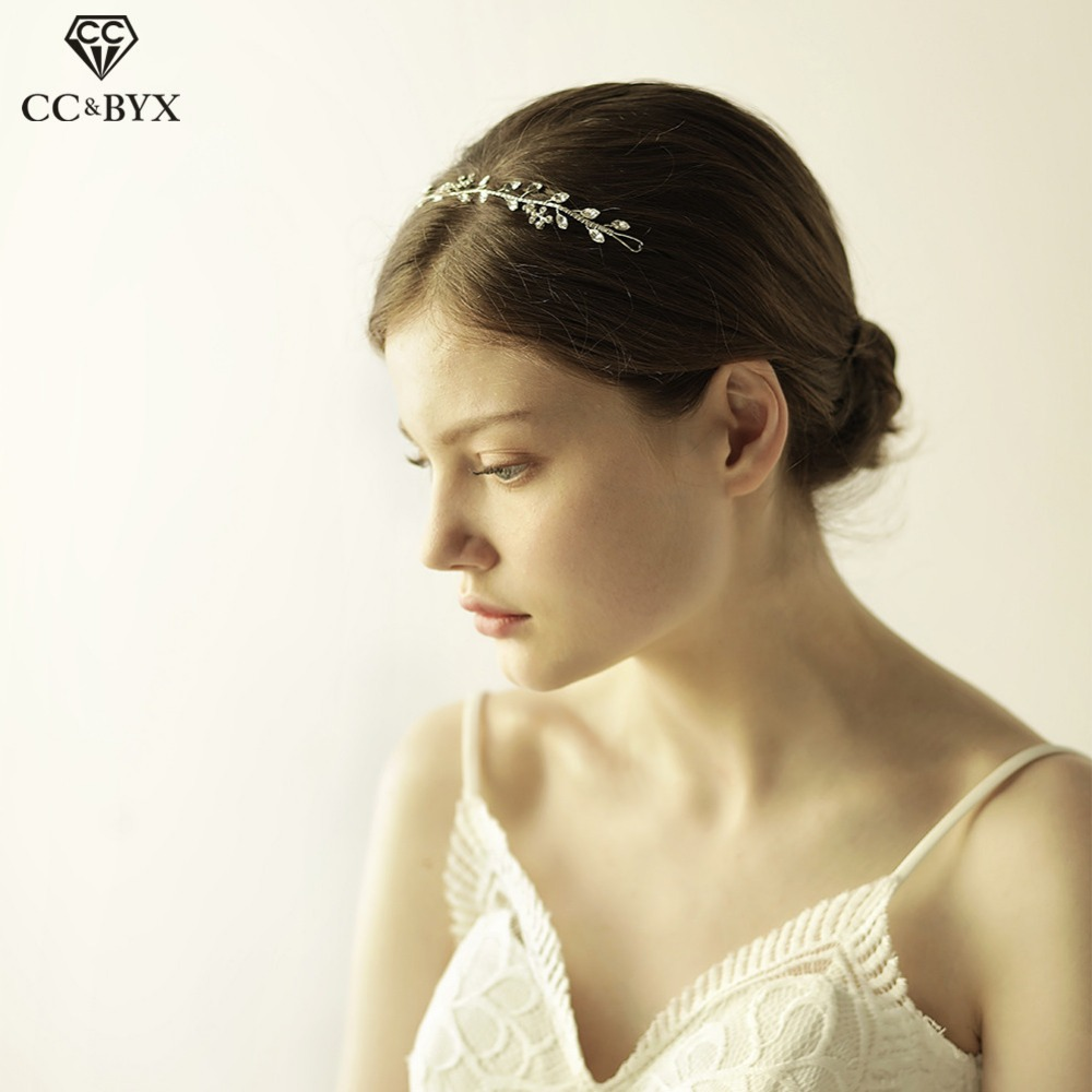 CC Headband Crowns Hairbands Crystal Flowers Beads Design Wedding Hair Accessories For Bride Party Beach Romantic Jewelry O819