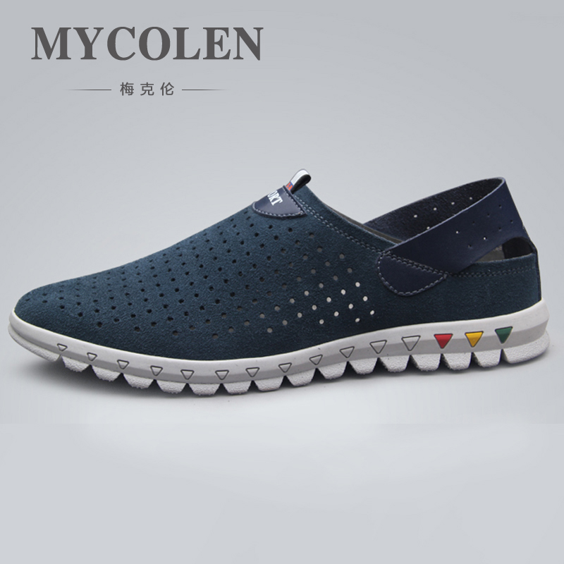 MYCOLEN 2018 Summer Breathable Mesh Shoes Soft Comfortable Mens Casual Shoes Genuine Fashion Men Shoes Scarpe Uomo Estive женские кеды golden goose shoes 2015 ggdb uomo scarpe scollate
